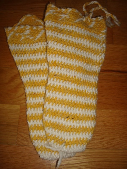 Calcetines marroquies amarillo chica